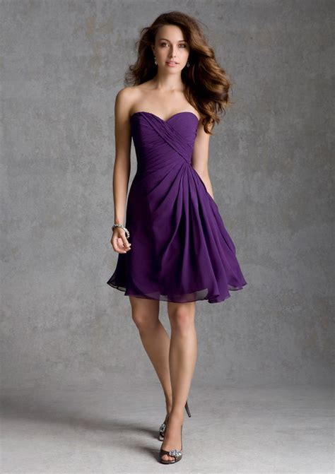 elegant short purple bridesmaid dresses cherry marry
