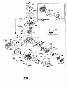 Tecumseh Model Tc300 Engine Genuine Parts