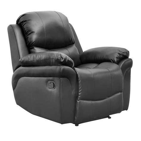 Real Leather Recliner Chairs by Black Real Leather Recliner Armchair Sofa Home