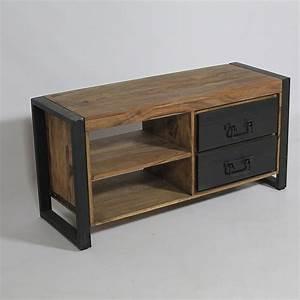 Meuble En Manguier : meuble tv industriel manguier naturel industrial design pinterest meuble tv industriel ~ Teatrodelosmanantiales.com Idées de Décoration