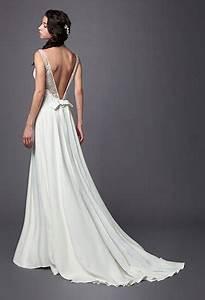 Robe De Mariée Dos Nu Plongeant : robe de mari e en dentelle dos nu ~ Melissatoandfro.com Idées de Décoration