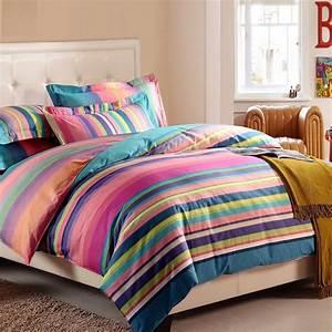 Rainbow, Stripe, Bedding, Bedspread, Bedroom, Sets