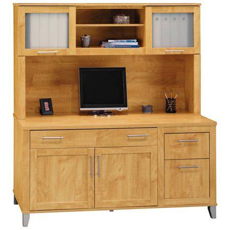 Bush Credenza by Bush Somerset Credenza Computer Desk And Hutch Maple
