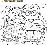 Coloring Happy Park Vector Adult Illustration Parents Clip Drawings Clipart Royalty Boy Boys sketch template