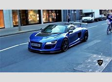 Supercars in London Part 23 MODIFIED R8 V10 GT, Brabus