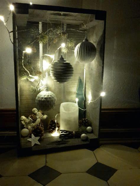 Weihnachtsdeko Fenster Selbstgemacht by Weihnachtsdeko In Einer Weinkiste Deko