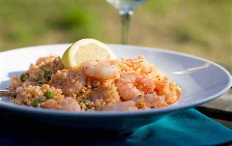 Mediterraneanstyle Cauliflower Rice With Prawns  Ao Life