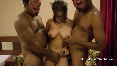 Open Minded Amateur Indian Bhabhi Having A Threesome Sex It