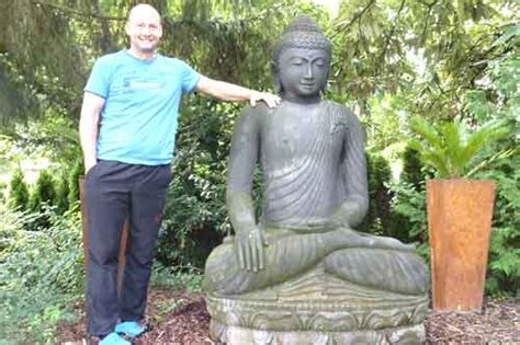 Buddha Kopf Im Garten