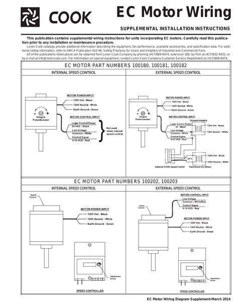 Cook Motor Wiring User Manual Page