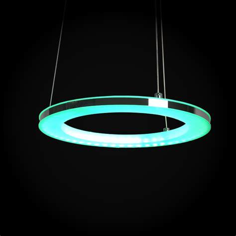 modern simple led pendant light acrylic led rgb circle