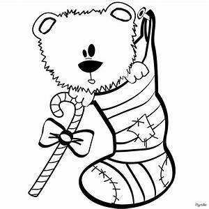Weihnachtssocken Zum Aufhängen : teddyb r und weihnachtsstrumpf zum ausmalen zum ausmalen ~ Michelbontemps.com Haus und Dekorationen