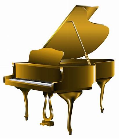 Piano Transparent Clipart Musical Notes Instruments Clip
