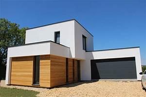 Ossature Bois Maison : maison ossature bois cubique ~ Melissatoandfro.com Idées de Décoration