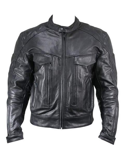 padded leather motorcycle jacket ditzer leather padded biker jacket leather4sure men