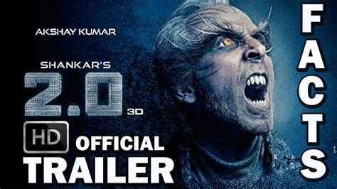 Robot 2.0 Interesting Facts 2018 🤖| 2.0 Official Trailer
