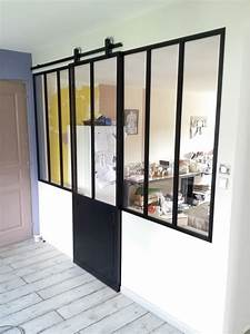 verriere et porte coulissante amenagement pinterest With porte coulissante style verriere