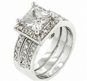 theodra princess cut engagement and wedding ring set 4 With princess cut engagement and wedding ring sets