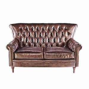 Ledersofa 2 Sitzer Braun : phoenixarts vintage chesterfield sofa 2 sitzer ledersofa braun echtleder antik couch design ~ Bigdaddyawards.com Haus und Dekorationen
