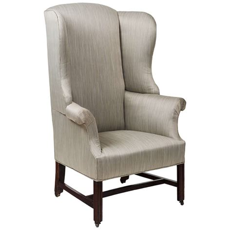 18th century georgian upholstered wing chair for sale at