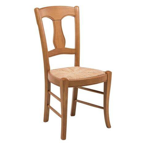 a la chaise chaise rustique en paille de seigle et chêne massif 263