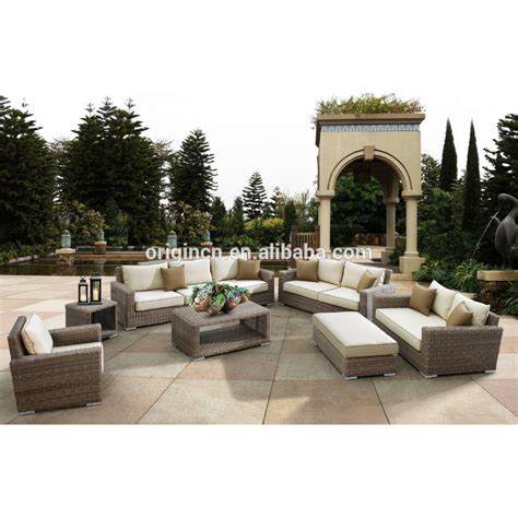 canapes de luxe luxury rattan large garden use 8 seater sofa set and