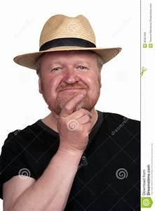 Chapeau De Paille Homme : homme barbu g par milieu heureux dans le chapeau de ~ Nature-et-papiers.com Idées de Décoration