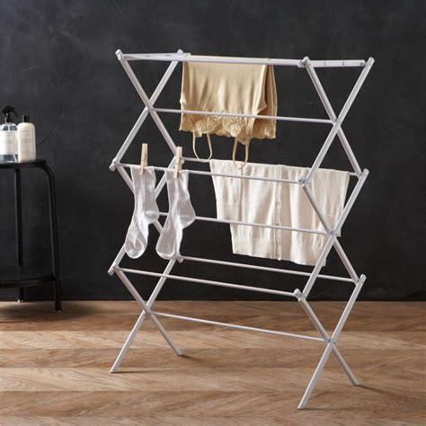 large folding drying rack reviews crate  barrel