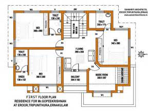 make floor plan kerala house plans with estimate for a 2900 sq ft home design