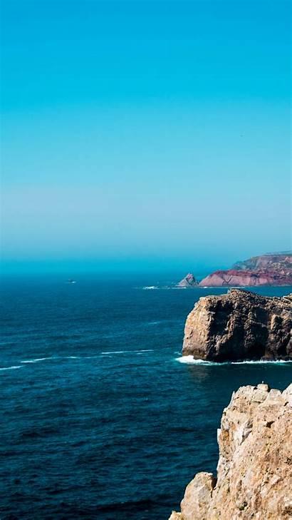 Cliff Coast Iphone Rock Sea Wallpapers