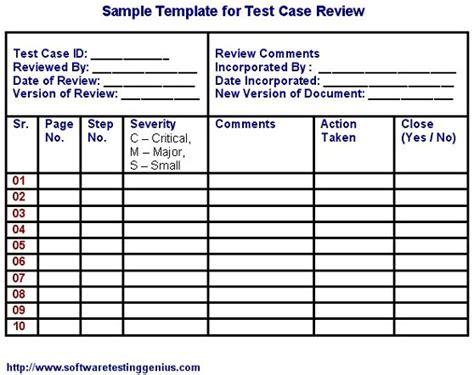 test case   sample template