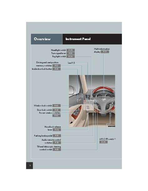 car repair manuals online free 2007 lexus es head up display 2007 lexus es350 quick owners manual