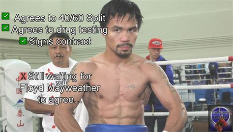 Manny Pacquiao Meme - boxing meme manny pacquiao playing the waiting game for floyd mayweather proboxing fans com