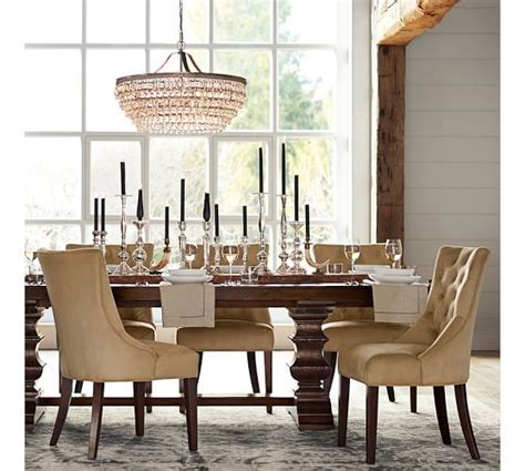 Banks Extending Dining Table   Pottery Barn