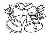 Bells Coloring Printable Bell Drawing Drawings Bow Santa Claus Line Nativity Colouring Sheets Adult Printables Natal Para Colorir Desenhos Pintar sketch template