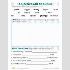 Adjectives That Describe You  Worksheet Educationcom
