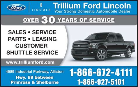 Trillium Ford Lincoln Ltd   Opening Hours   4589
