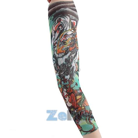 tattoo arm warmer cuff sleeve covers men cycling bicycle