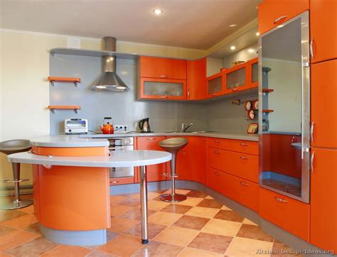 Ideas For An Orange Kitchen by Pictures Of Kitchens Modern Orange Kitchens Kitchen 7