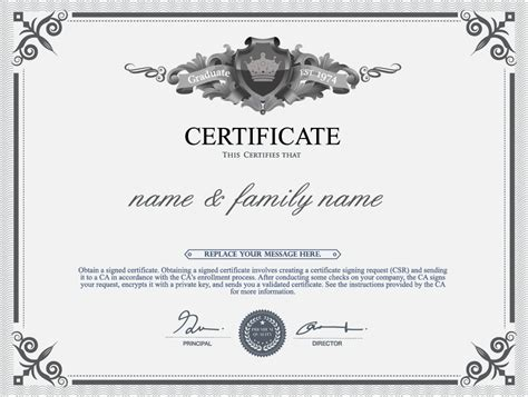 Diploma Format by Gray Style Certificate And Diploma Template Vector 06 Free
