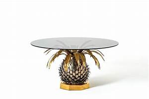 Maison jansen pineapple cocktail table france 1970 at for Pineapple coffee table