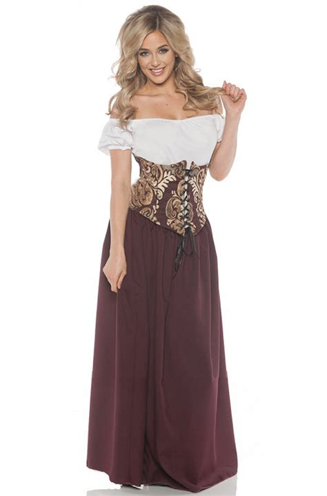 renaissance bar maid adult costume purecostumescom