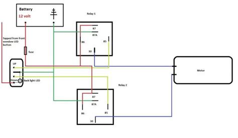 Electric Window Wiring Diagram by Need Help With Electric Windows Relay Diagram The Fiat
