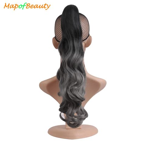 Mapofbeauty 18 Inches Synthetic Women Claw On Ponytail