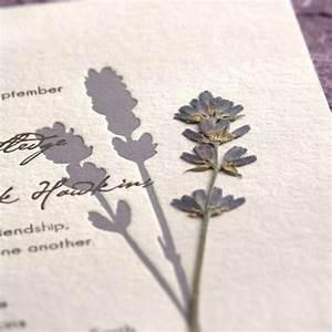 pressed flower letterpress wedding invitations With wedding invitations with dried flowers