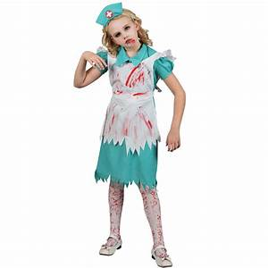 Zombie Nurse Age 8 9 10 Girls Fancy Dress Kids Halloween ...