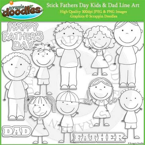 stick fathers day kids dad  art  scrappindoodles