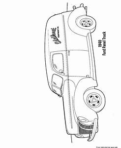 ford truck coloring pages to print for kidsfree printable With 1949 ford panel van