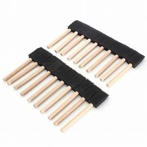 Buy 20 PCS Foam Sponge Wooden Handle Painting Drawing ...