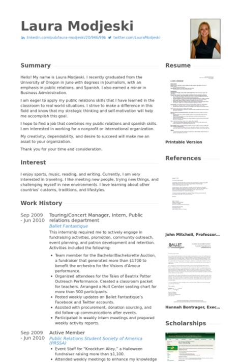 Relations Internship Resume Template by Relations Resume Sles Visualcv Resume Sles